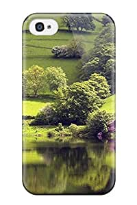Hot Tpu Cover Case For Iphone/ 4/4s Case Cover Skin - Mesmerising Landscape Green Grass Lake Nature Other