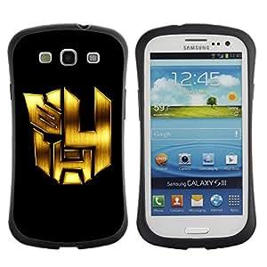 "Hypernova Slim Fit Dual Barniz Protector Caso Case Funda Para SAMSUNG Galaxy S3 III / i9300 / i747 [Mech Formadores Robots""]"