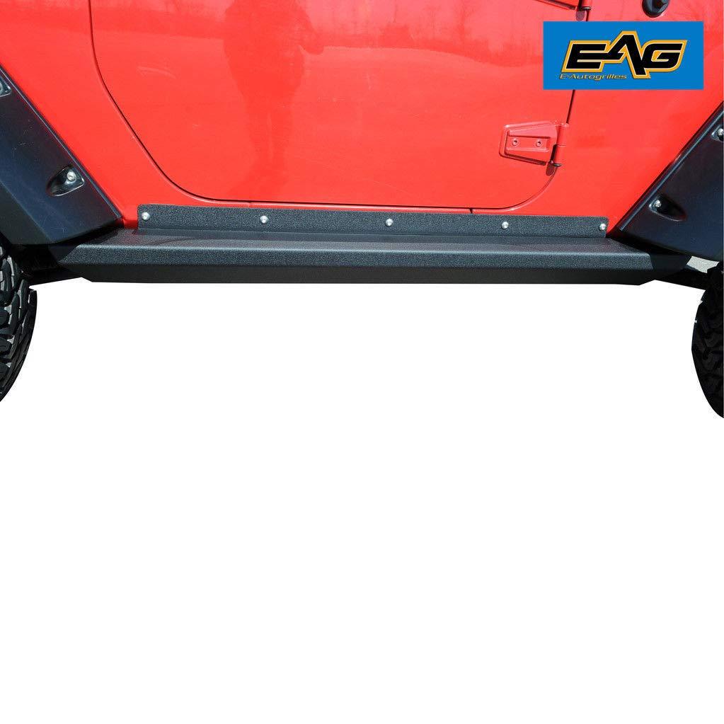 EAG Steel Offroad Rock Sliders for 07-18 Jeep Wrangler JK 2 Door