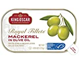 King Oscar Skinless & Boneless Mackerel Fillets in Olive Oil, 4.05 Ounce (Pack of 12)