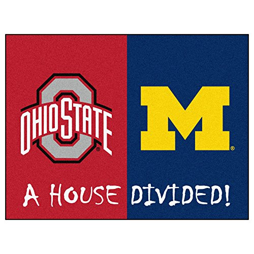 House Divided Area Rug Michigan Wolverines - Ohio State Buckeyes