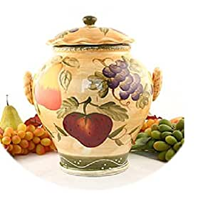 Tuscan Collection Deluxe Hand-Painted Cookie Jar
