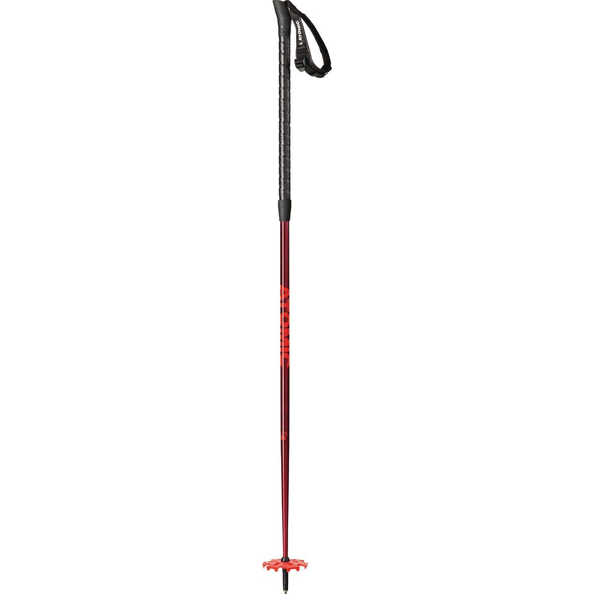 Atomic BCT Freeride SQS Ski Poles Red/Red, 130cm by Atomic