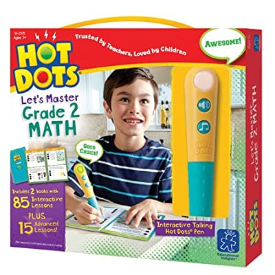Educational Insights Hot Dots Let's Master 2nd Grade Math, 100 Lessons That Cover Key Math Skills, Ages 7 and Up: Toys & Games
