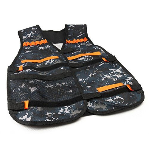 E-SCENERY Kids Tactical Vest, Children Elite Tactical Vest Kit For Nerf N-strike Elite Series, For 5 to 14 Years Old (Airsoft Series)