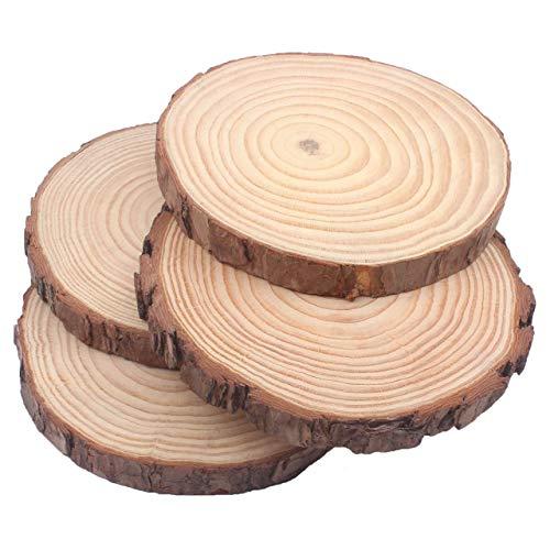 Natural Pine Wood Slabs Untreated 7.5-8.5 inch Diameter x 1