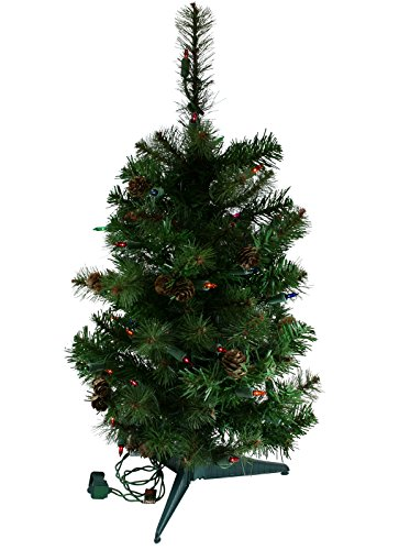 2 Foot Prelit Multi Lights Sherwood Artificial Christmas Tree [MXT45124AM]