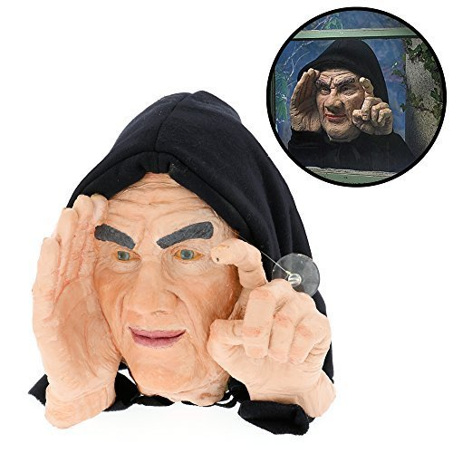 Halloween Decoration - Scary Peeper - Tapping Peeper - The True-to-Life Motion Activated Window Prop that really taps on your window by Scary Peepers]()