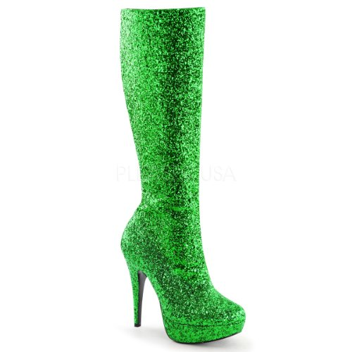 Funtasma Women's Lolita-300G Boot, Green Glitter, 8 M US]()