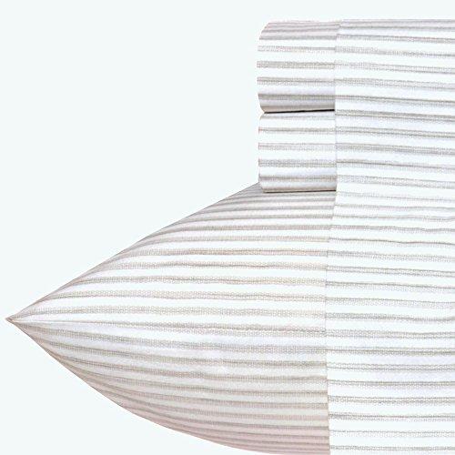 Tommy Bahama Pillowcase and Sheet Set, Queen, Paloma Beach Gray