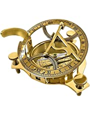 """THORINSTRUMENTS (with device) 3.5"""" Sundial Compass - Solid Brass Sun Dial"""