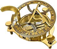 """THORINSTRUMENTS (with device) 3.5"""" Sundial Compass - Solid Brass Sun"""