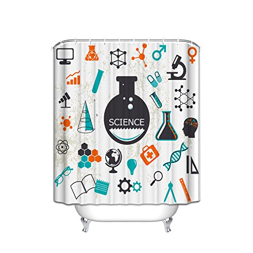 Gallery Science - YEHO Art Gallery Painting Science pattern - Children - cute Fabric Shower Curtain Bathroom Decor Sets with Hooks 66 x 72 Inch