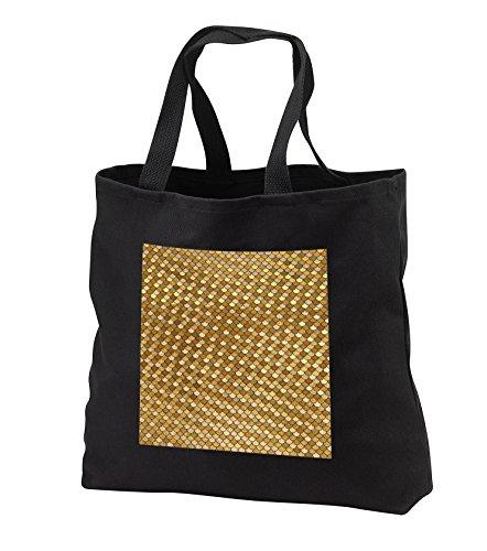 (Anne Marie Baugh - Patterns - Glam Faux Gold Mermaid Scallops Pattern - Tote Bags - Black Tote Bag JUMBO 20w x 15h x 5d (tb_283241_3))