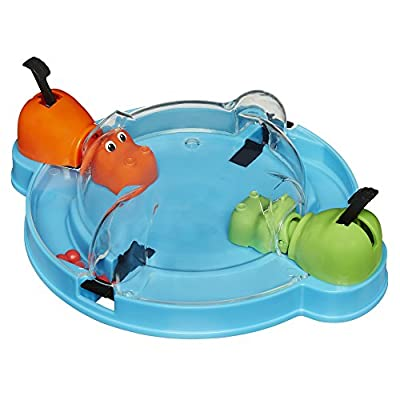 Elefun & Friends Hungry Hungry Hippos Grab & Go Game (Includes 2 Chomping Hippos): Toys & Games