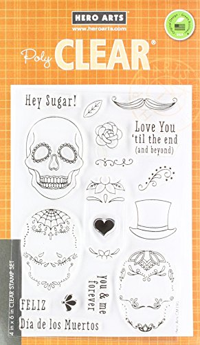 Hero Arts Sugar Skulls Stamps (Stamp Skull)