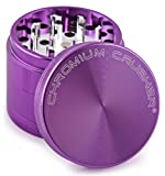Chromium Crusher Purple Tobacco Herb Grinder w/ - Pick Your Size (2.5