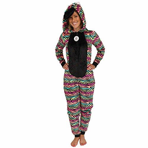 Secret Treasures Women's Animal Character Sleepwear 1-Piece Costume Union Suit (Small, (1 Piece Hood)