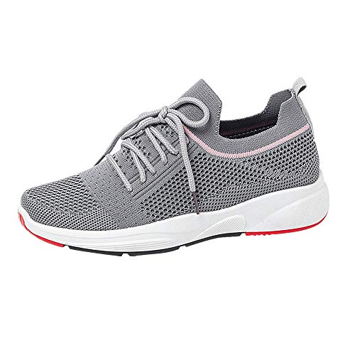 Orfilaly Women's Sports Running Shoes Shock Absorbing Trainer Jogging Trainers Ladies Gym Running Lightweight Sneakers Grey