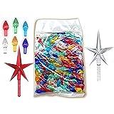 National Artcraft Twist Style Ornament Lights Plus Stars for Ceramic Christmas Trees (Pkg/146)
