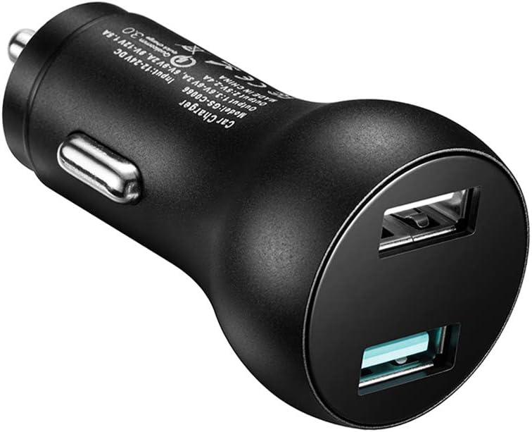 Car Charger 2 USB Port Quick Fast Charging Compatible iPhone X/XR/XS MAX / 8/7 / 6 / Plus, iPad Pro11 12.9 / Air 2 / Mini