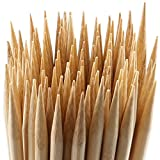 MalloMe Bamboo Marshmallow Roasting Sticks 5mm Thick Extra Long Heavy Duty Wooden Hot Dog Smores Sticks Shish Kabob Skewers Fire Pit Campfire Cooking Kids, 30″ L, 100 Piece