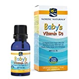 Nordic Naturals Baby's Vitamin D3 - Vitamin D From Natural Cholecalciferol Helps Calcium Absorption To Support Healthy Teeth, Bone Development, Immune System and Brain Function, 4 mL
