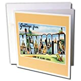 3dRose Greeting Cards, 6 x 6 Inches, Pack of 12, Greetings From Minnesota Postcard (gc_170238_2)