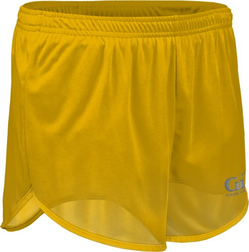 "TR403 Men's 5"" Single Ply Ultra-Light Run Tech Short-Breathability and Moisture Control. Great for Marathons, Iron Man, and Track and Field Events-Black, Green, Purple, Gold, Orange, and Red-Sizes XS-3X (Medium, Gold)"