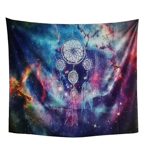 YAMUDA Polyester Tapestry Wall Tapestry Wall Hanging Tapestries Modern Cosmic Dream Catcher Tapestry Wall Blanket Wall Decor Wall Art Home Decor, Size: 59 x 51 Inches (Dream) (Tapestry Wall Dreams)