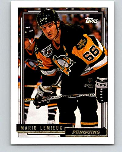 1992-93 Topps Gold #212G Mario Lemieux Mint Hockey NHL Penguins