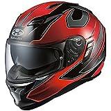 オージーケーカブト(OGK KABUTO)バイクヘルメット フルフェイス KAMUI2 STINGER (スティンガー) ブラックレッド (サイズ:L)