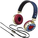 Disney Descendants 2 Headphones Fashionable Rhinestone & Gold Accented Style