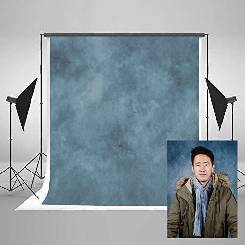 Kate 5ft(W) x7ft(H) Texture Portrait Photography Backdrops for Photographers Microfiber Blue Abstract Old Master Photo Backdrop Professional Head shots by Kate