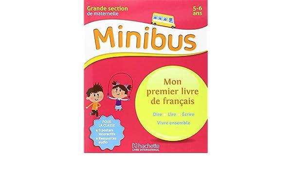 Minibus Mon Premier Livre De Francais Gs Langue Maternelle