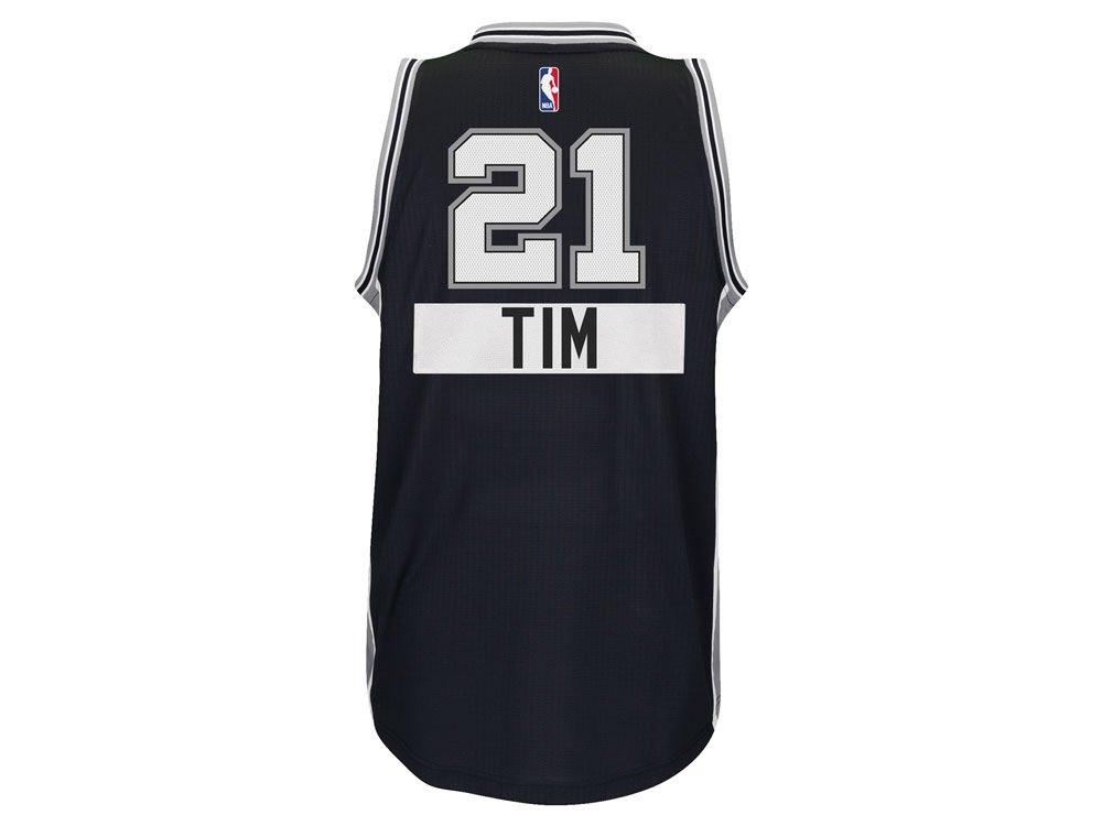 los angeles a0769 1d9c6 Amazon.com: Mens San Antonio Spurs Tim Duncan adidas Black ...