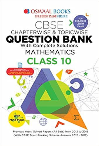 Oswaal CBSE Question Bank Class 10 Mathematics Chapterwise