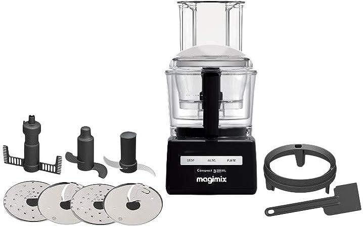 Magimix Compact 3200 XL 650W 2.6L Negro - Robot de cocina (2,6 L, Negro, 1,2 L, Induction, 4 discos, Acero inoxidable): Amazon.es: Hogar