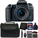 Cheap Canon EOS 77D 24.2MP Digital SLR Camera with 18-55mm Lens and Accessory Bundle