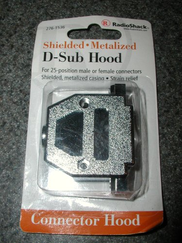 RADIOSHACK 276-1536 SHIELDED METALIZED FOR 25-POSITION MALE OR FEMALE CONNECTORS SHIELDED METALIZED CASING STRAIN ()