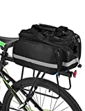 Lixada Bicycle Rack Bag 25L Multifunction Waterproof MTB Bicycle Pannier Bag Bike Rear Seat Bag with Rain Cover