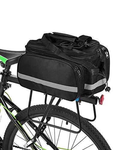 Lixada Bicycle Rack Bag 25L Multifunction Waterproof MTB Bicycle Pannier Bag Bike Rear Seat Bag with Rain Cover