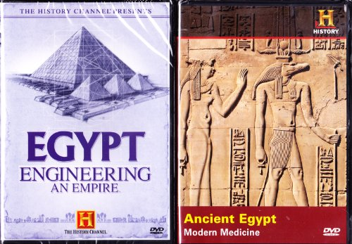 The History Channel Egypt : Engineering an Empire , Ancient Egypt Modern Medicine : All About Egypt 2 Pack
