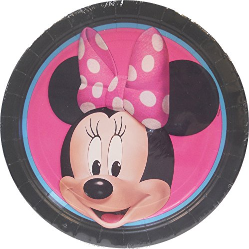 Minnie Mouse Birthday Party Lunch Plates - 8 per package ~NEW -
