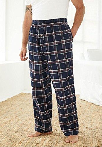 KingSize Mens Big /& Tall Flannel Plaid Pajama Pants