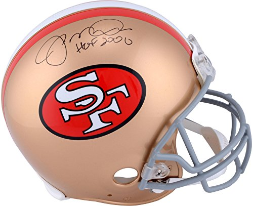 Joe Montana San Francisco 49ers Autographed Pro-Line Riddell Authentic Helmet with HOF 2000 Inscription - Fanatics Authentic Certified (Autographed Authentic Pro Line Helmet)