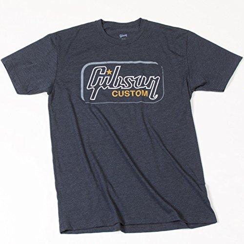Gibson Gear Unisex-Adult's Gibson Custom T, Heathered Gray, Small