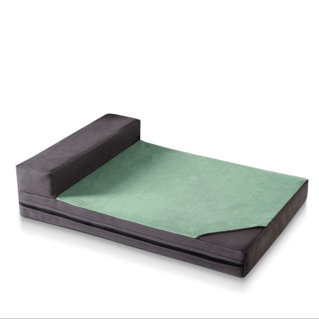 GREEN M (within 10kg) GREEN M (within 10kg) Pet Beds Non-stick Mattress Nordic Simple Hair Large Dog Law Husky Pet Mattress A+ (color   GREEN, Size   M (within 10kg))