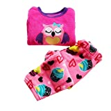FashionBaby Baby Girls Warn Fleece Sleepwear Pajamas Set Outfits