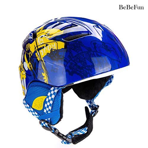 BeBeFun Toddler and Children Kids ski Skate Helmet ASTM-2040 Standard 48-52cm Small Size for 2-6 Years Toddler Kids.